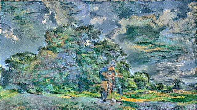 Deep Learning – Cycling Art