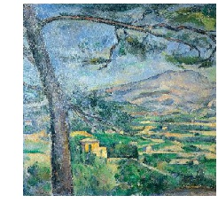 Cézanne from Sainte Victoire